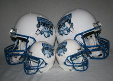 Bridgepoint Education Holiday Bowl Helmets